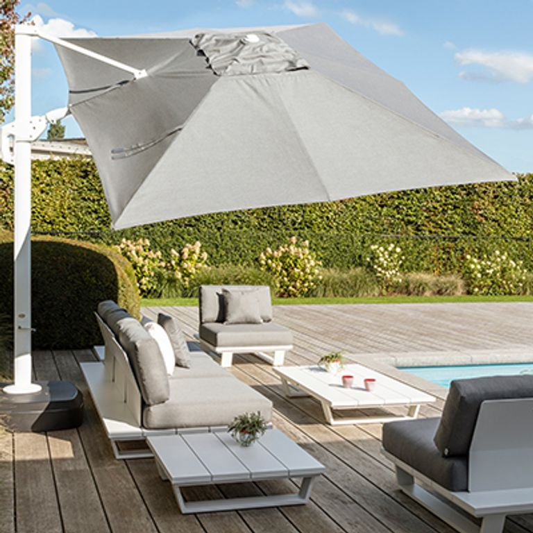 Parasol met All Weather Sunbrella doek