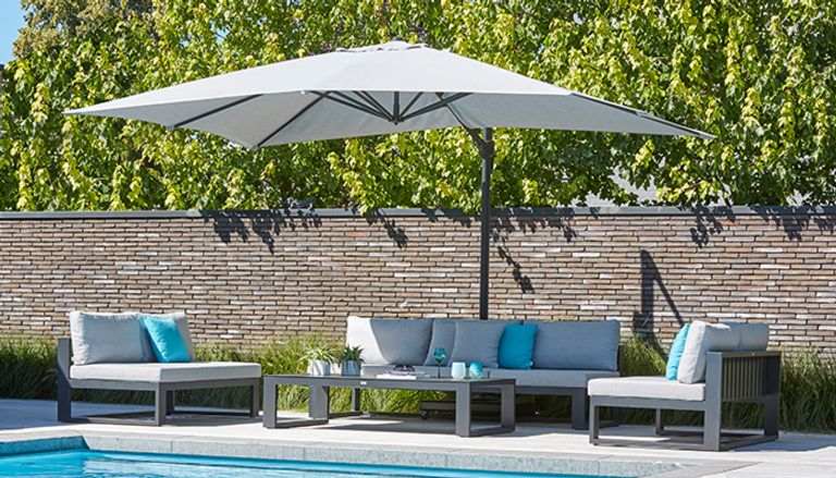 Parasols avec coussins en All Weather Sunbrella®