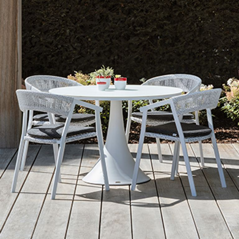 Tables de jardin en aluminium